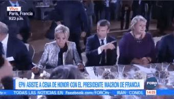 Epn Asiste Cenan Honor Presidente Macron Francia