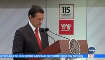 Epn Clausura Asamblea Infonavit Presidente Enrique Peña Nieto