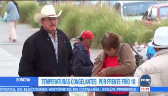 Frente frío afecta a habitantes de Sonora