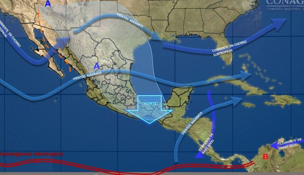 Bajas temperaturas prevalecerán esta noche en la mayor parte de México