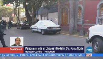 Hombre se quita la vida en calles de la colonia Roma Norte