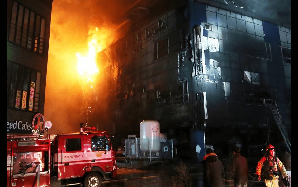 Incendio en Corea del Sur deja 28 muertos