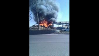 Se registra incendio en Ecatepec, Edomex