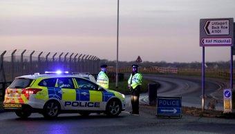Descartan terrorismo durante incidente base estadounidense Inglaterra