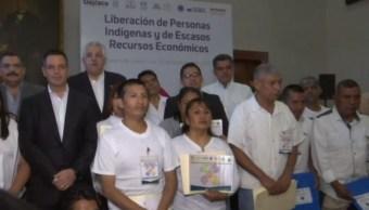 Preliberan a 149 indígenas presos en Oaxaca acusados de diversos delitos