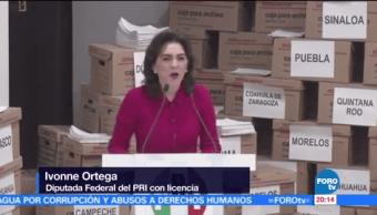 Ivonne Ortega declina a favor de Meade