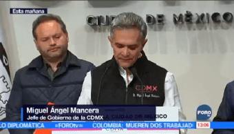Reconstrucción Avanza Tiempo Forma Mancera Jefe Gobierno Ciudad México