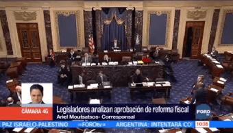 Legisladores Eu Analizan Aprobación Reforma Fiscal Washington Ariel Moutsatsos