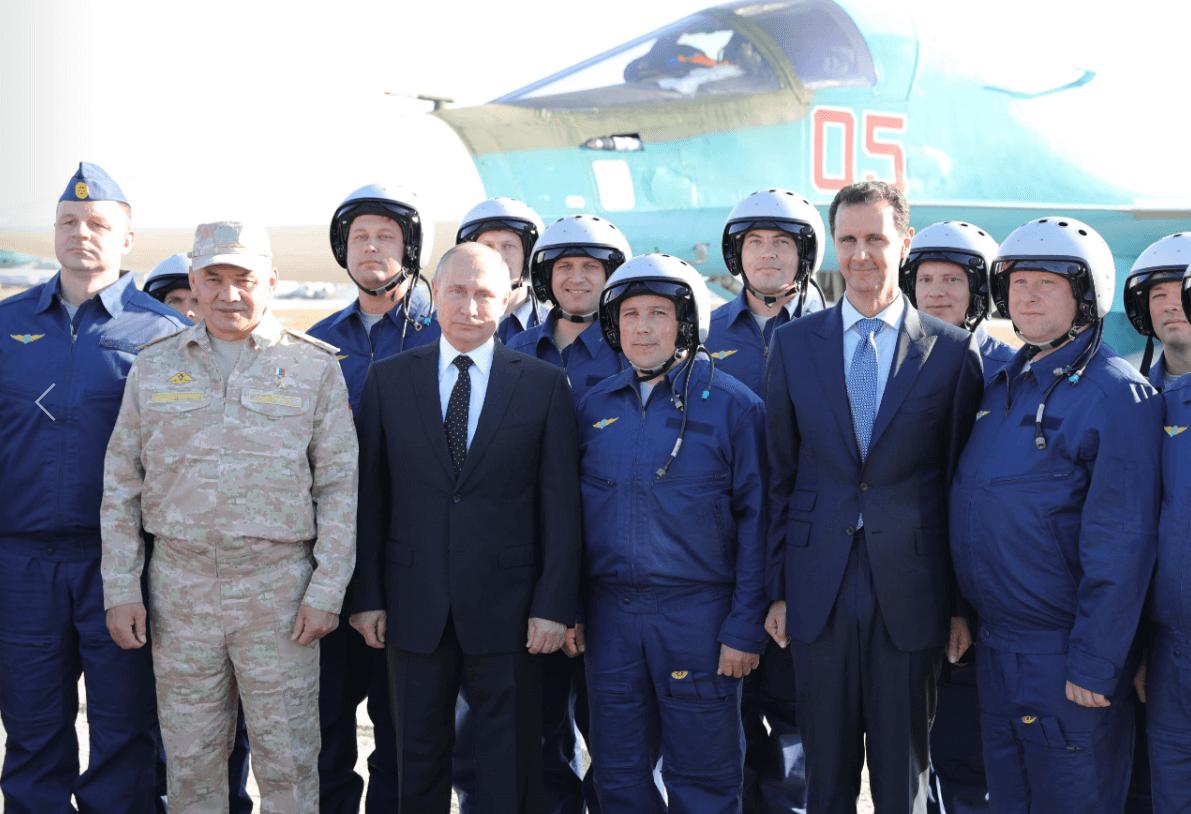 Putin anuncia en Siria la salida de las tropas rusas