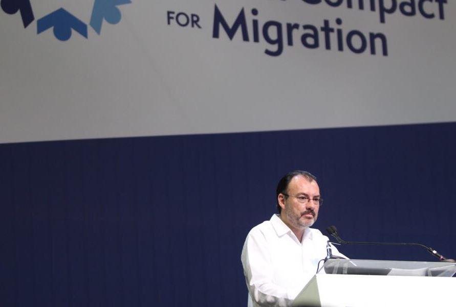 México lamenta salida de EEUU del Pacto Mundial sobre Migración