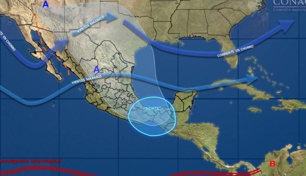 Masa de aire polar provoca bajas temperaturas y heladas en México