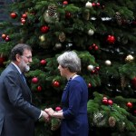 May ratifica su apoyo a Rajoy en la crisis catalana