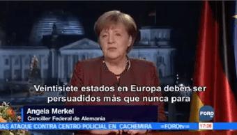 Merkel Pide Superar Divisiones Internas Externas Entre Alemanes