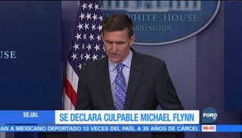 Michael Flynn se declara culpable de mantener contactos con funcionarios rusos