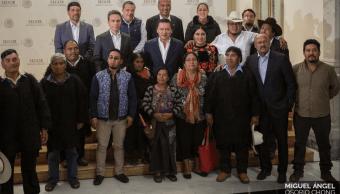 Firman convenio concertación atender desplazados Chiapas