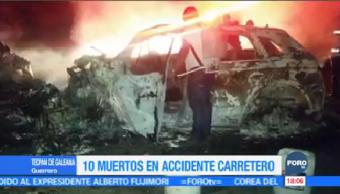 Mueren 10 Personas Carretera Acapulco Zihuatanejo Accidente
