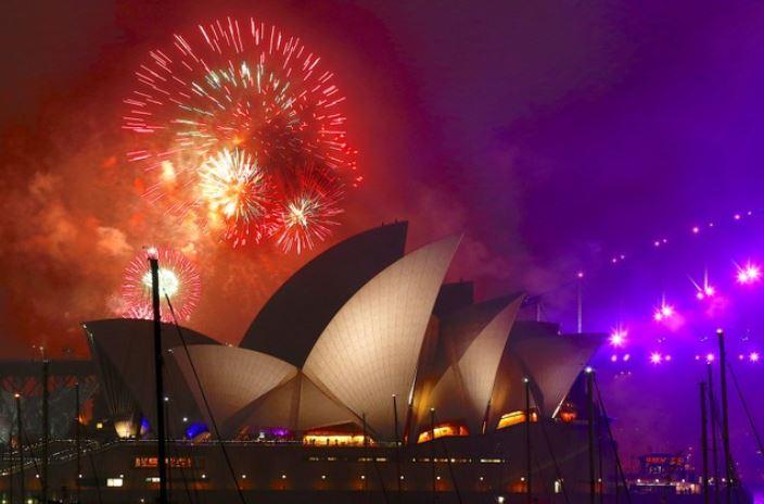 australia recibe al ano nuevo 2018