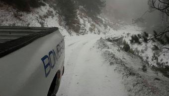 Se registra primera nevada de la temporada en Colima