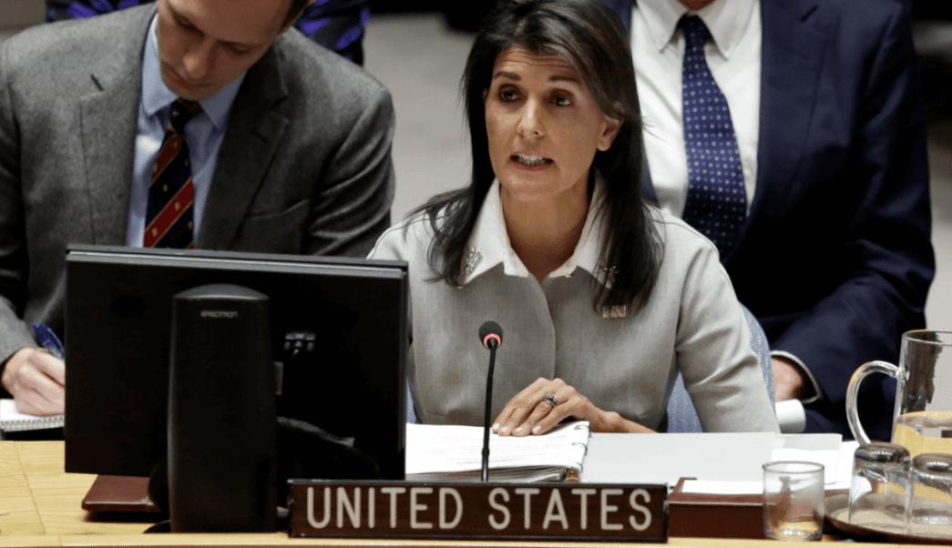 Nikki Haley, embajadora estadounidense ante la ONU