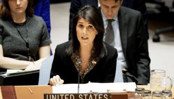 Nikki Haley, embajadora estadounidense en Estados Unidos