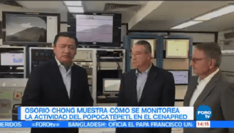 Osorio Chong Muestra Monitorea Popocatépetl
