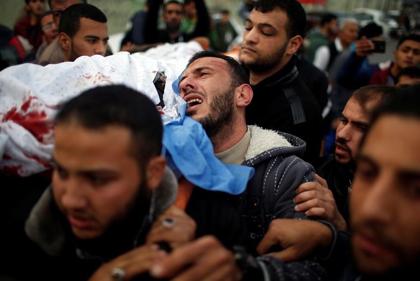 Dos milicianos palestinos resultaron muertos en un ataque