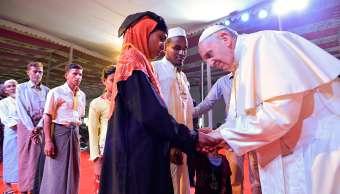 Papa Francisco cierra su gira Asia reunirse refugiados rohinyás
