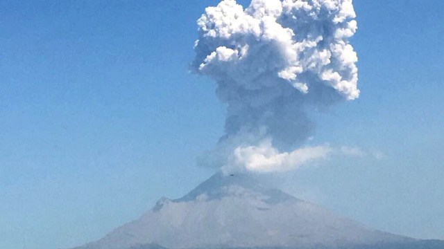 Popocatépetl cumplirá 23 años de estar en actividad eruptiva
