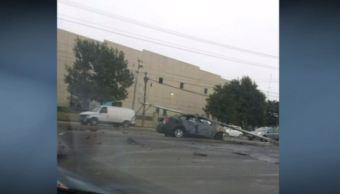 Joven se impacta e incendia auto en Nuevo León. (Noticieros Televisa)