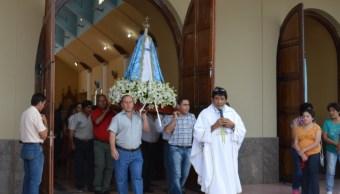Realizan procesión de la Virgen de la Concepción en Campeche