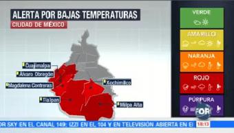 Protección Civil Activa Alerta Roja CDMX Frío
