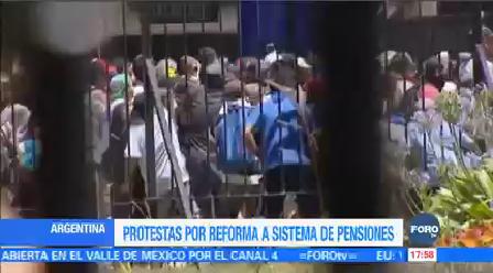 Protestas Reforma Pensiones Argentina