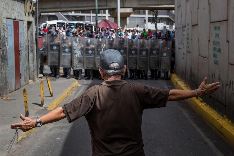 Protestas en Venezuela por falta de comida