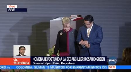Realizan Homenaje Póstumo Excanciller Rosario Green