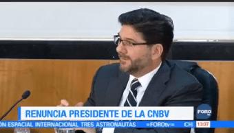 Renuncia Presidente Comisión Nacional Bancaria