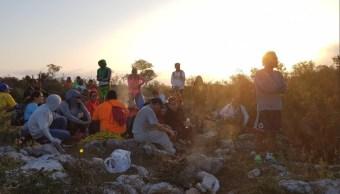 rescatan a 32 excursionistas den cerro topo chico
