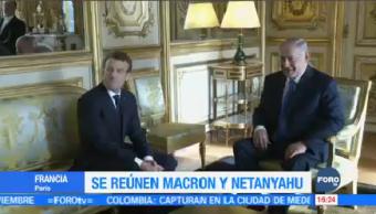 Reúnen Macron y Netanyahu en Francia