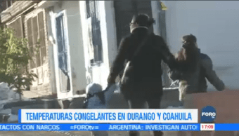 Temperaturas Congelantes Durango Coahuila Confirmó Muerte Intoxicación