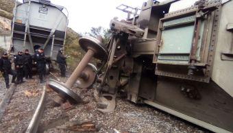 Tren cargado de arroz vuelca en el municipio de Acultzingo, Veracruz