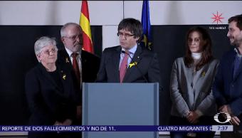 Triunfan Independentistas Elecciones Cataluña Bruselas Carles Puigdemont