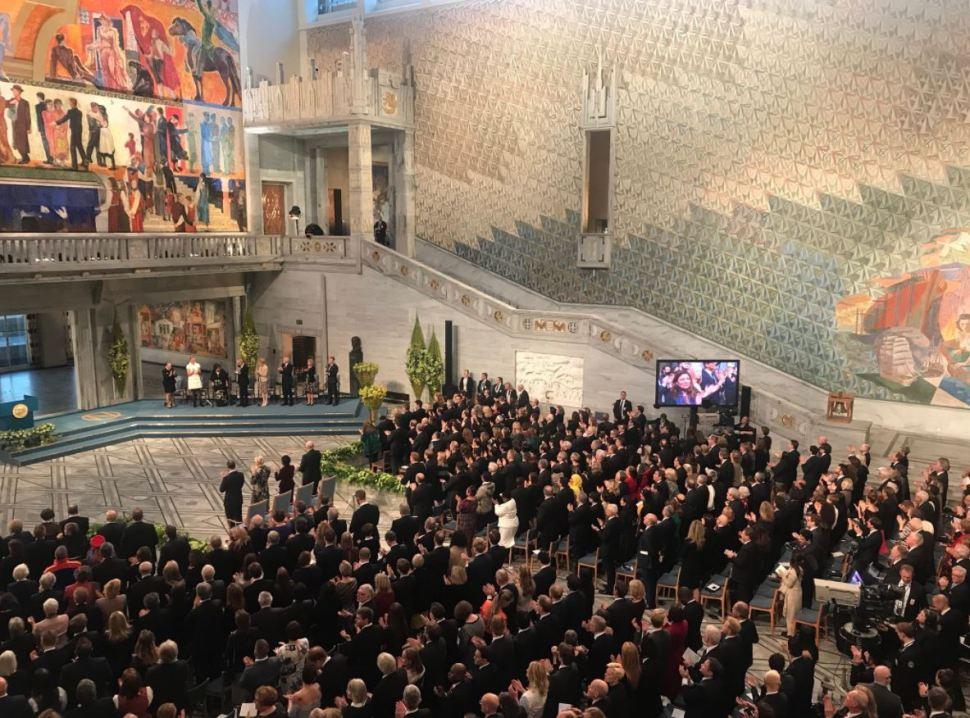 videgaray ceremonia premio nobel oslo noruega
