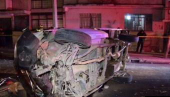 accidente sobre viaducto deja un muerto y dos lesionados