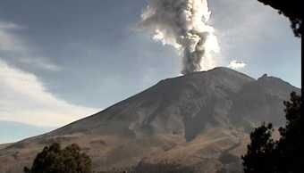 monitoreo registra 705 exhalaciones del popocatepetl