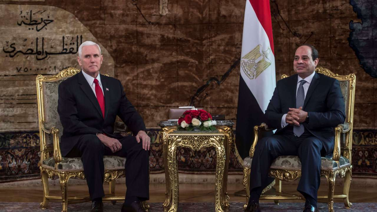 Vicepresidente de EU llega a Egipto para iniciar gira en Oriente Medio