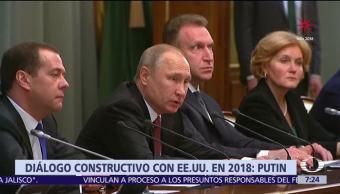 Vladimir Putin llama a Donald Trump a dialogar