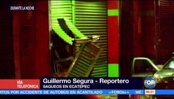 Saquean tiendas en Ecatepec, Estado de México
