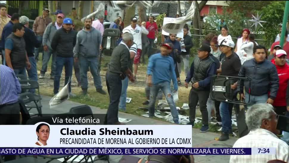 Claudia Sheinbaum pide que se desarrollen precampañas en paz