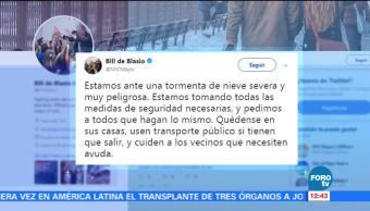 Bill de Blasio lanza alerta en español por las nevadas
