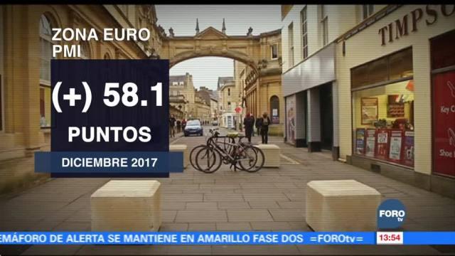 Crece economía de la zona euro
