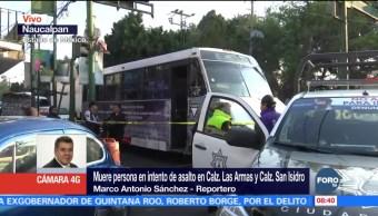 Pasajero ultima a asaltante en transporte público de Naucalpan